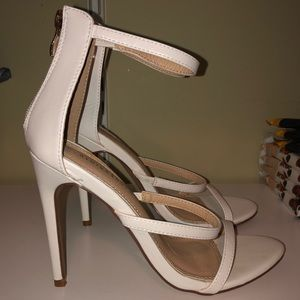 White Strappy High Heels *Brand New*